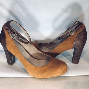 NWOB FRANCO SARTO Two Toned Heels with Ankle Strap